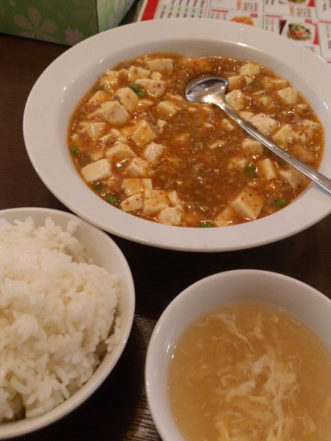 Mabo_tofu_set_meal