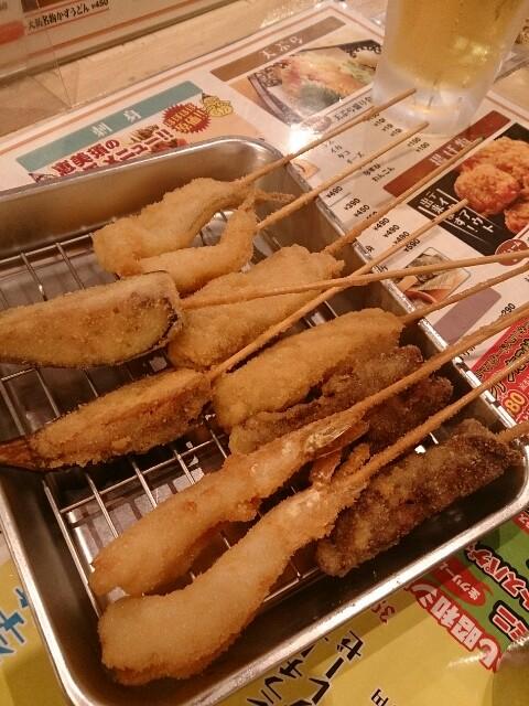 恵美須商店 黒船盛り・串カツ